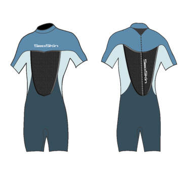 Seaskin 2mm Yamatomo Rubber Back Zip Shorty Wetsuit
