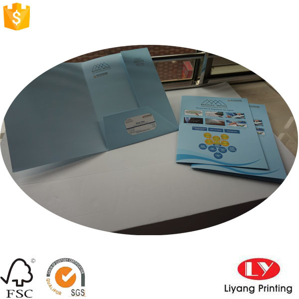 A4 Custom Paper Presentation Folder with Pocket