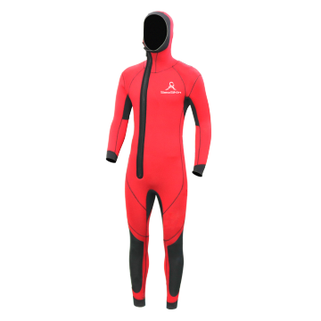 Seaskin Men's 6/5/4mm Hooded Front Zip Fullsuit