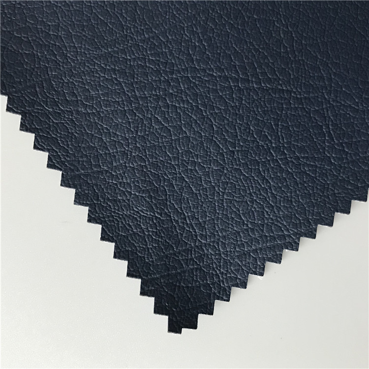 BLACK ELASTIC WATER BASED PU LEATHER FOR PANT
