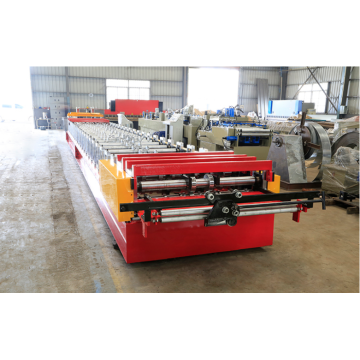 Steel floor plate roll deck making machine metal