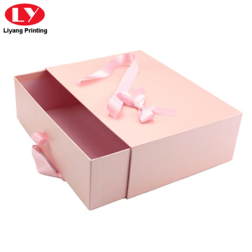Pink drawer box with ribbon handle