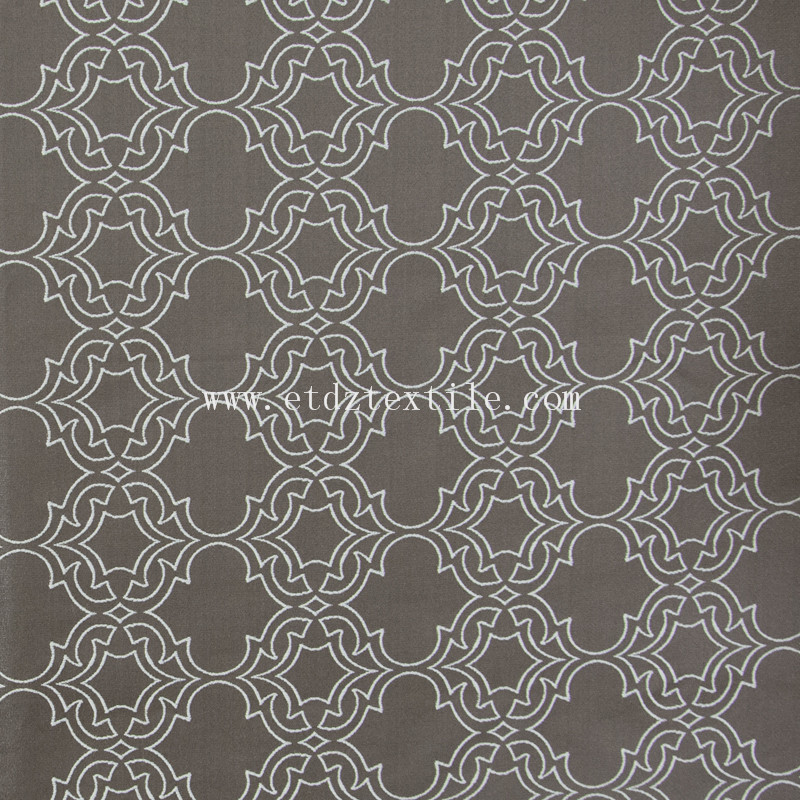 2016 Trends Embroidery Modern Designs Curtain GF027 Chocolate