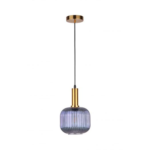 Vintage glass jar striped pendant lamp
