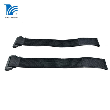 Black Elastic Loop Hook Fastener Strap