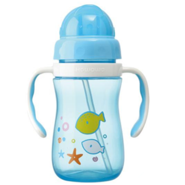 Plastic Infant Water Drinking Bottle Training Cup