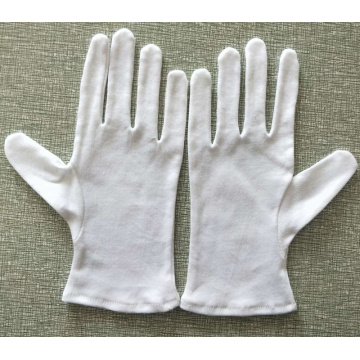 Disposable White Cotton Inspection Gloves