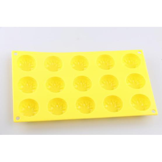 15-cavity Different Shapes Silicone Flower Baking Mold