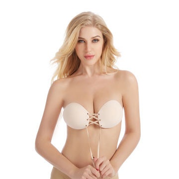 Strapless silicone invisible bra