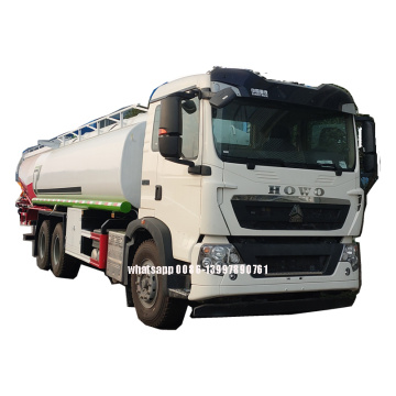 New HOWO 6X4 25000liters Construction Water Tank Truck