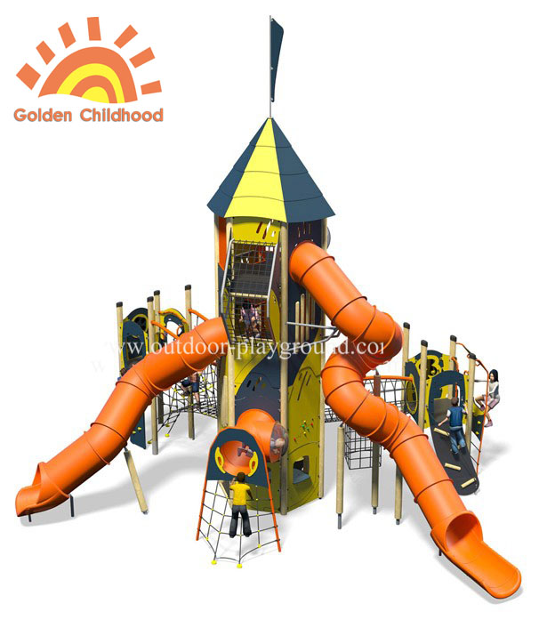 Outdoor Hpl Activity Tower Tube Slide Playground