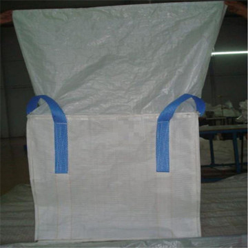Jumbo bag with duffle top and flat bottom