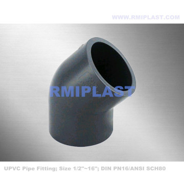 UPVC 45 degree elbow PN16