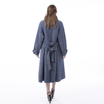 New smog blue cashmere coat