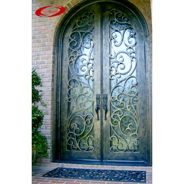 Wrought Iron Door with Euro Rain Glass