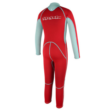 Seaskin Kids Front Zipper Red Color Freediving Wetsuits