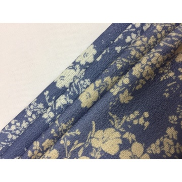 Polyester Linen Look Print Fabric
