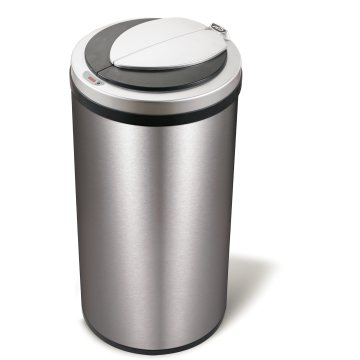 Large Capacity Automatic Sensor Dustbin with Fingerprint Resistant
