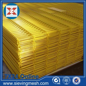 Yellow PVC Coated Welded Wire Mesh