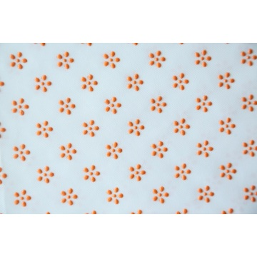 100% Polyester Flower Type Plastic Dots Fabric