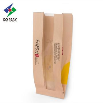 Kraft paper bag for packing bread