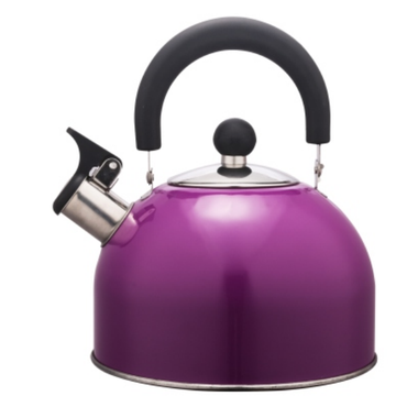 2.5L Stainless Steel color painting Teakettle purple color