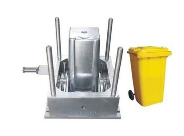 Garbage bin plastic mould