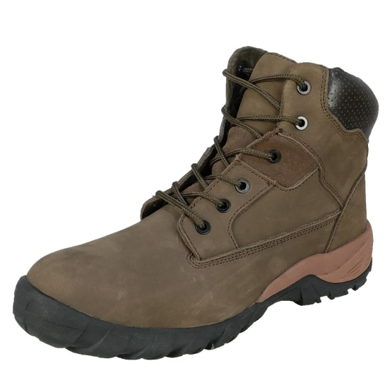 High Ankle Nubuck Safety Shoes with MD Sole