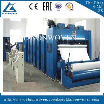 2017 hot selling 5500mm needle punching geotextile machinery