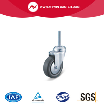 Threaded Stem Swivel TPE Institutional Caster