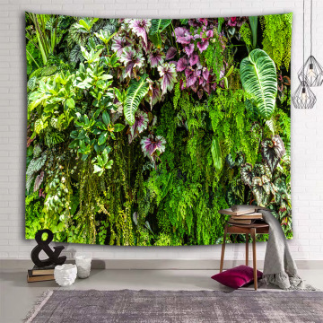 Green Leaves Wall Tapestry Tropical Plants Nature Tapestry Wall Hanging for Livingroom Bedroom Dorm Home Decor