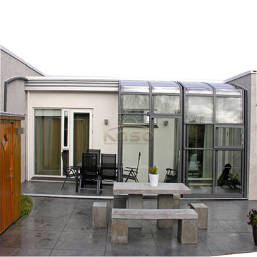 Glass House Restaurant Patio Cover Telescopic Sunroom
