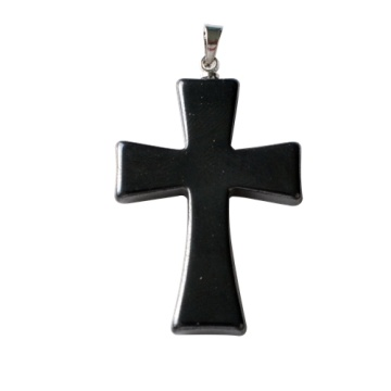 Cross Hematite Clasp Pendant Magnetic Necklace