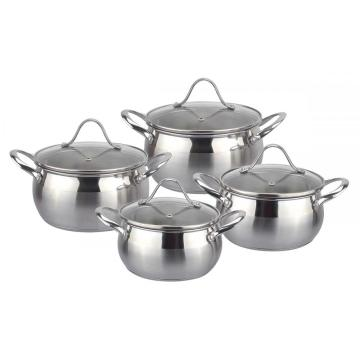 Durable 8pcs apple shape cookware set