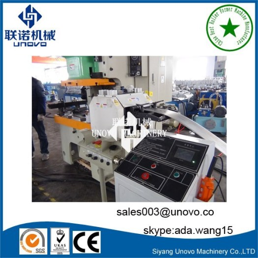 auto C shaped unistrut channel manufacturing machine