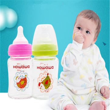 8oz Infant Glass Wide Neck Nursing Milk Bottle
