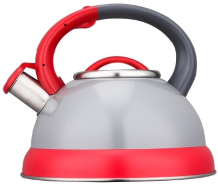 KHK011 2.5L Stainless Steel color painting whistling Teakettle grey+red color