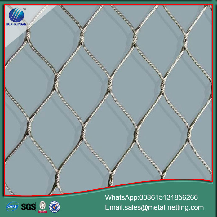 wire rope netting galvanized rope mesh