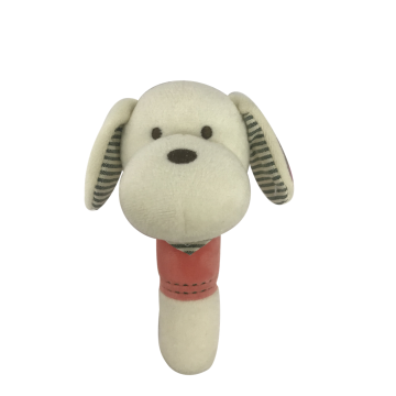 White Dog Squeaker Baby Toy