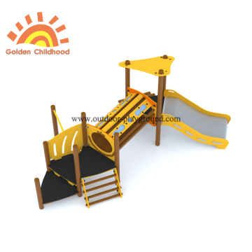 HPL Wooden Net Bridge Slide Equipment For Children