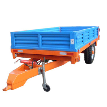Two wheel Compact tractor tipper trailer