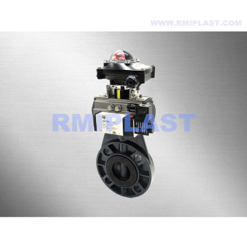 PVC Pneumatic Butterfly Valve Single Acting