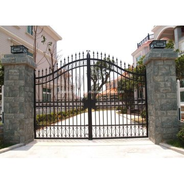 Forged Wrought Iron Gates House Used Security Driveway Sliding Gates