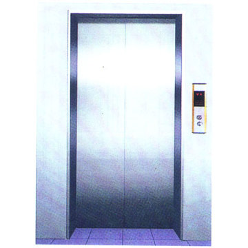 Elevator Decoration , Passenger Center Opening Landing Door