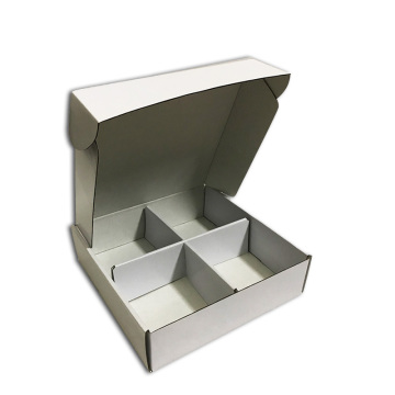 Cardboard packing boxes with divider card