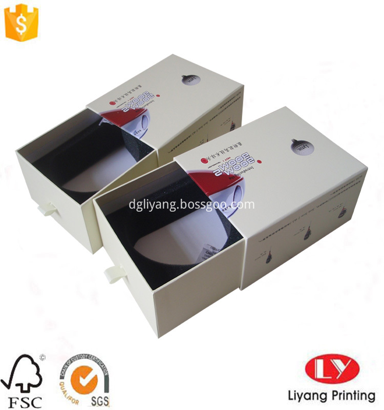 drawer cardboard box with ribbon