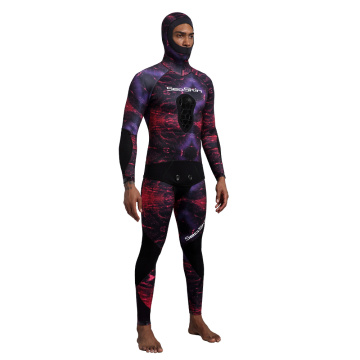 Seaskin Camouflage 2-Pieces Hooded Wetsuit for Spearfishing