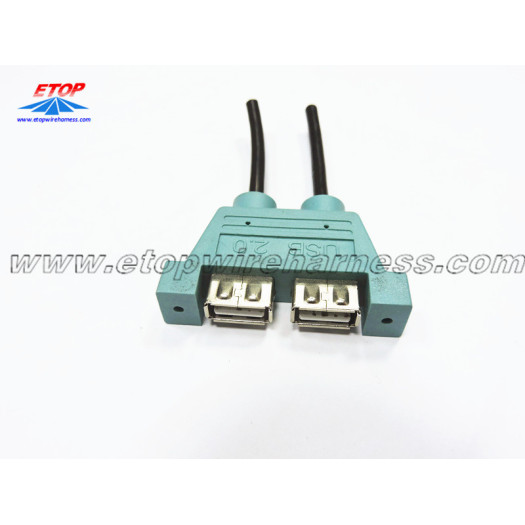 Double USB Female Connector