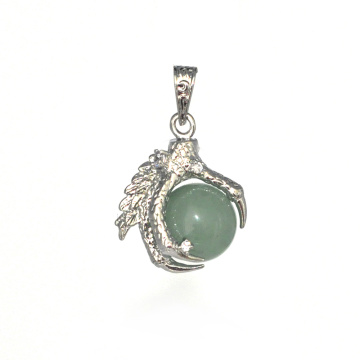 Wholesale Fashion Jewelry Aventurine Sphere Dragon Claw Pendant