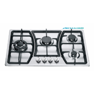 Silvery White 4 Burners Built-in Gas Stove